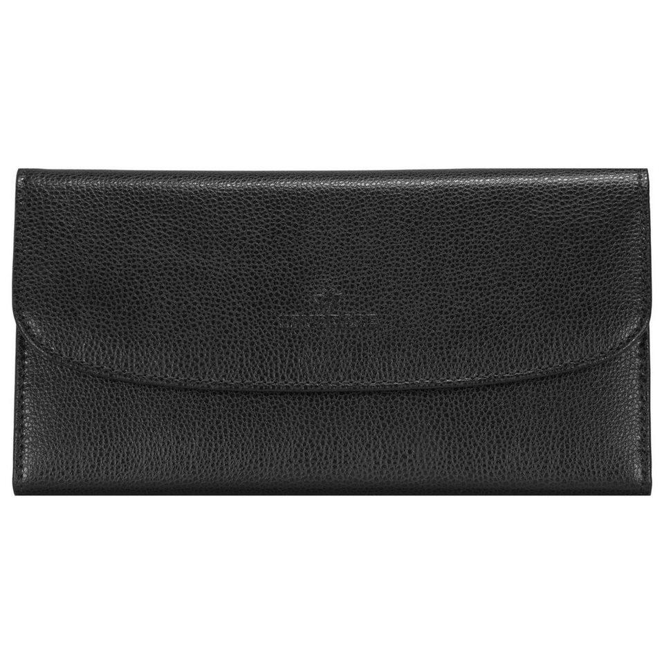 Windrose Windrose Beluga Schmucktasche 20 cm Leder in schwarz