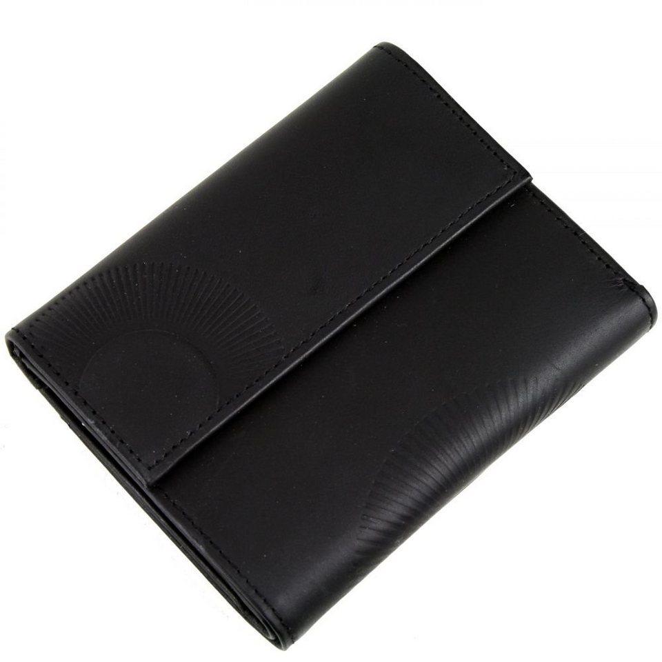OXMOX oxmox Leather Überschlag-Geldbörse Leder 11,5 cm in ilios
