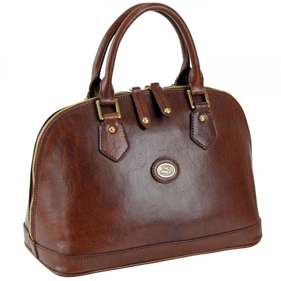 The Bridge Story Donna Henkeltasche Leder 31 cm in marrone
