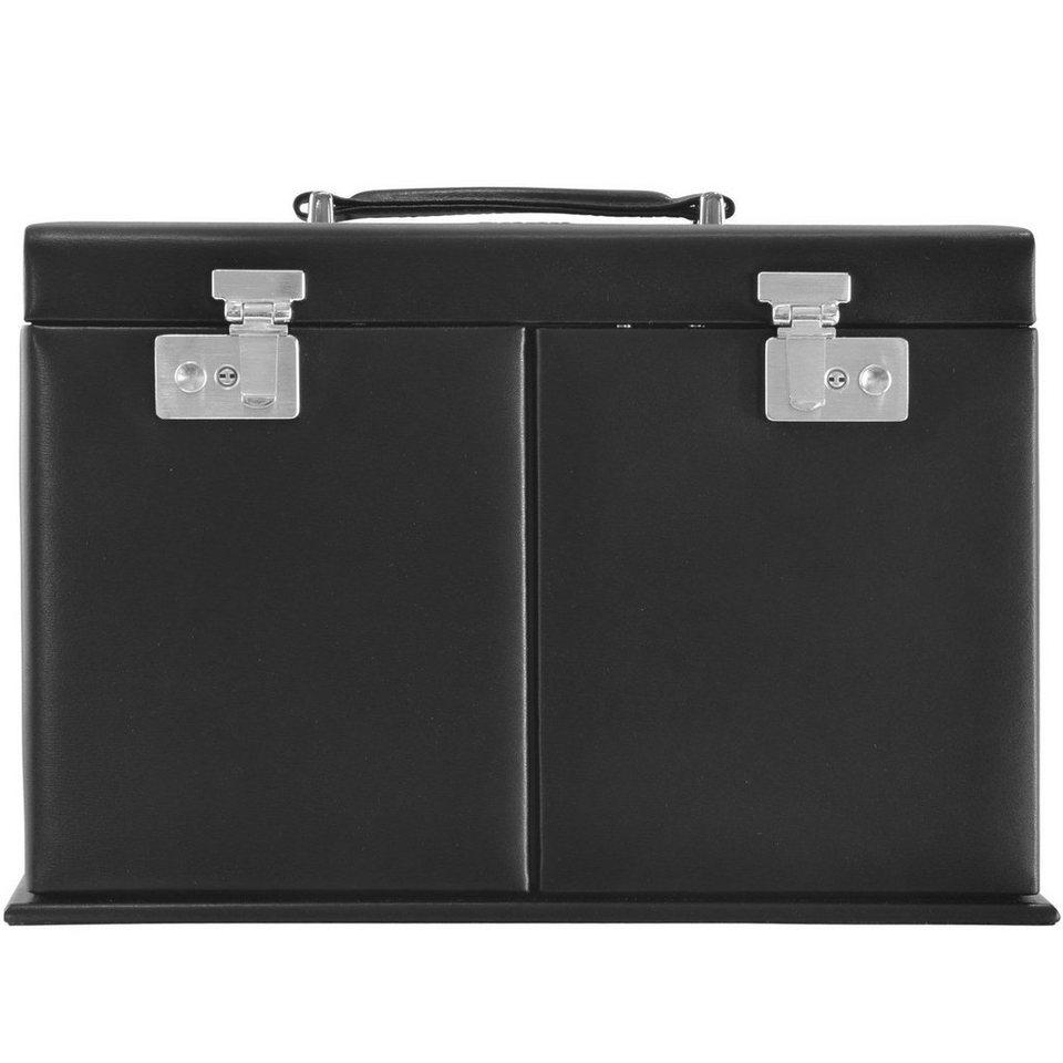 WINDROSE Windrose Ambiance Schmuckkoffer 32,5 cm Leder in schwarz