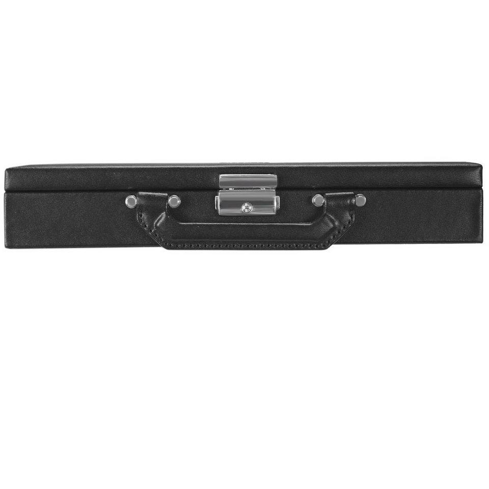 Windrose Ambiance Schmuckkoffer 28 cm Leder in schwarz