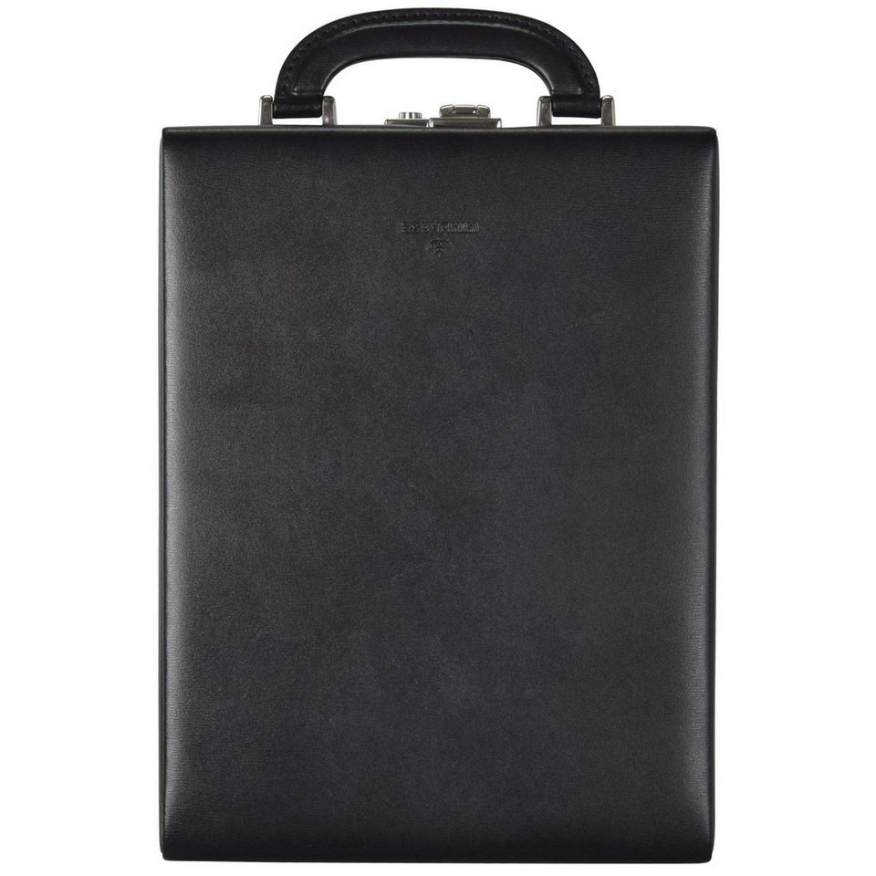 WINDROSE Windrose Ambiance Uhrenbox 23 cm Leder in schwarz
