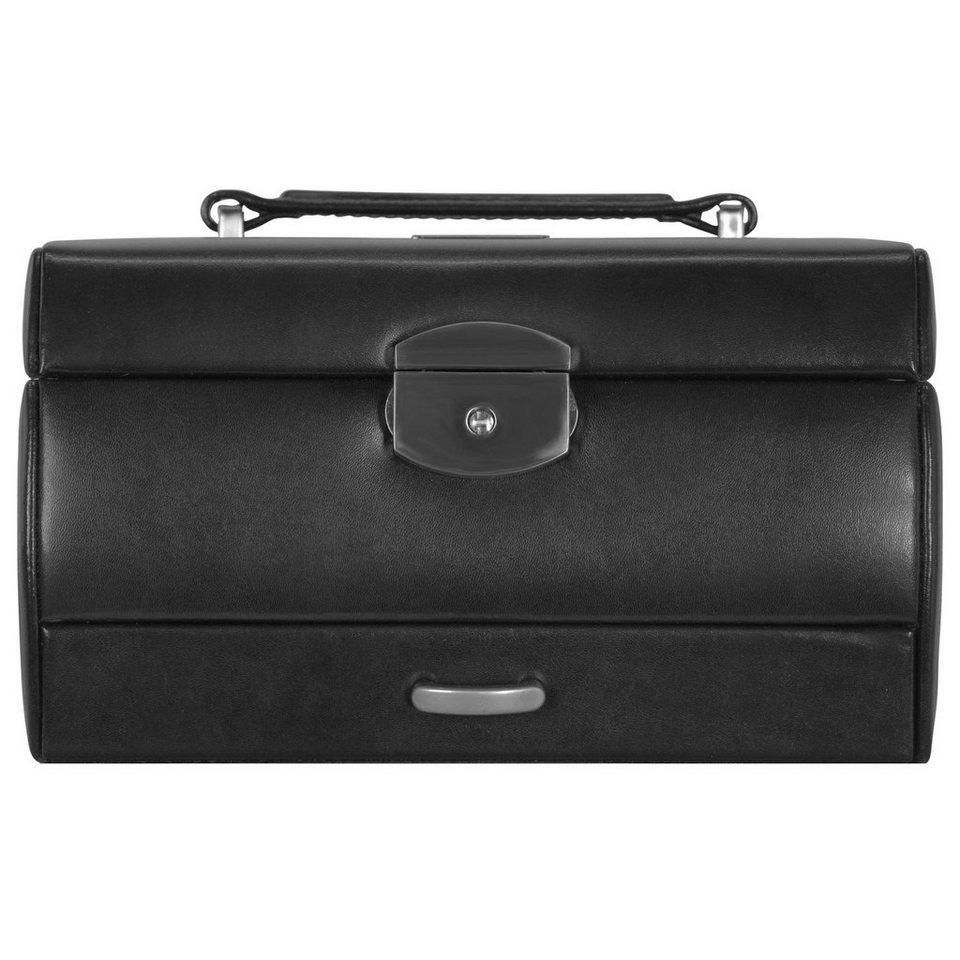 WINDROSE Windrose Classico Uhrenbox 19,5 cm Leder in schwarz
