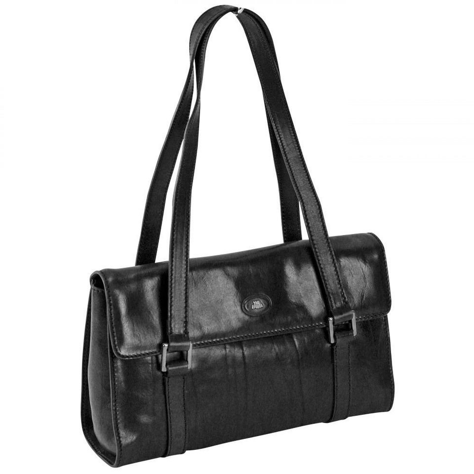 The Bridge Story Donna Export Umhängetasche Leder 30 cm in nero