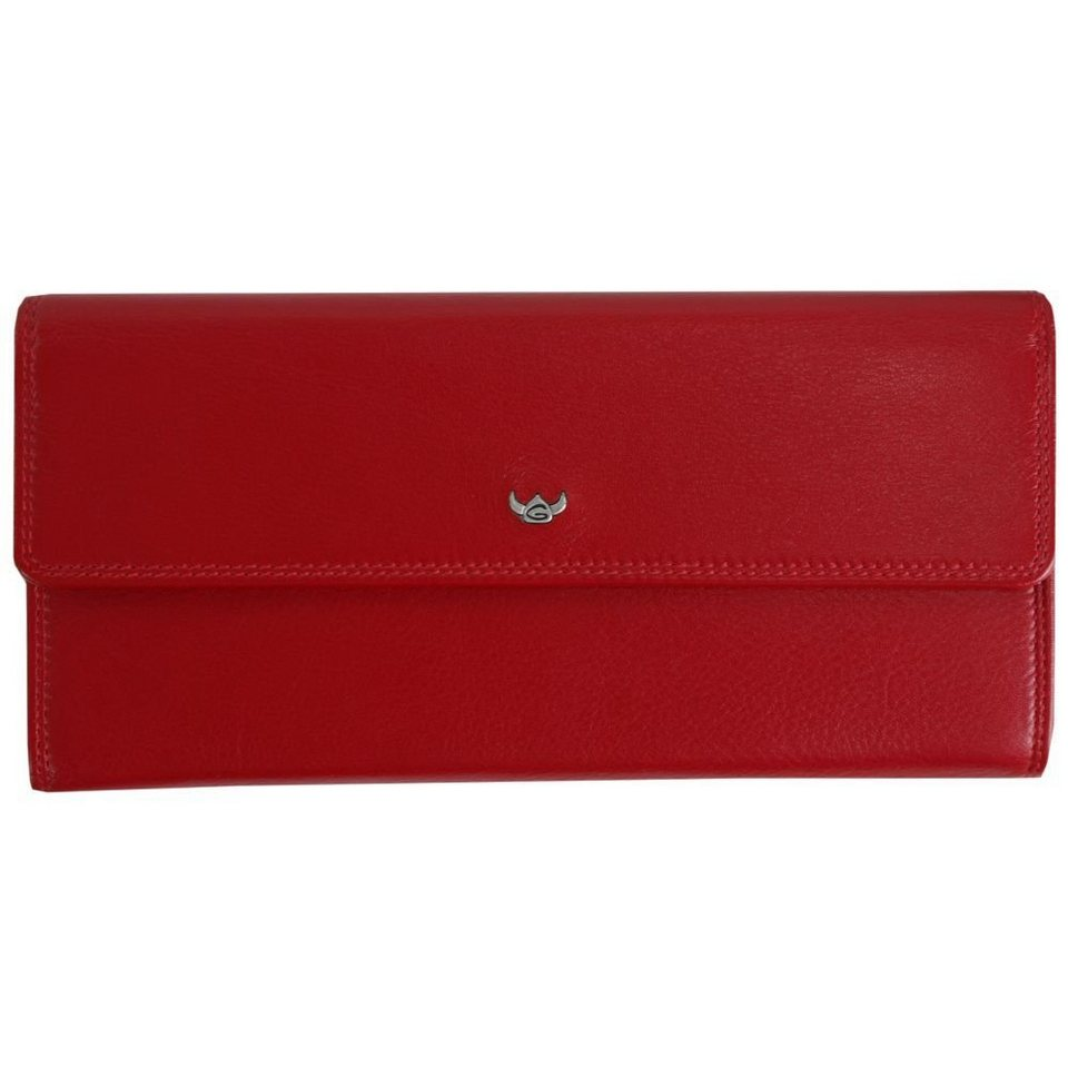 Golden Head Golden Head Polo Geldbörse 19,5 cm Leder in rot
