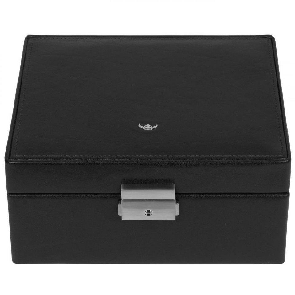 Golden Head Golden Head Colorado Uhrenbox für 8 Uhren 20 cm Leder in schwarz