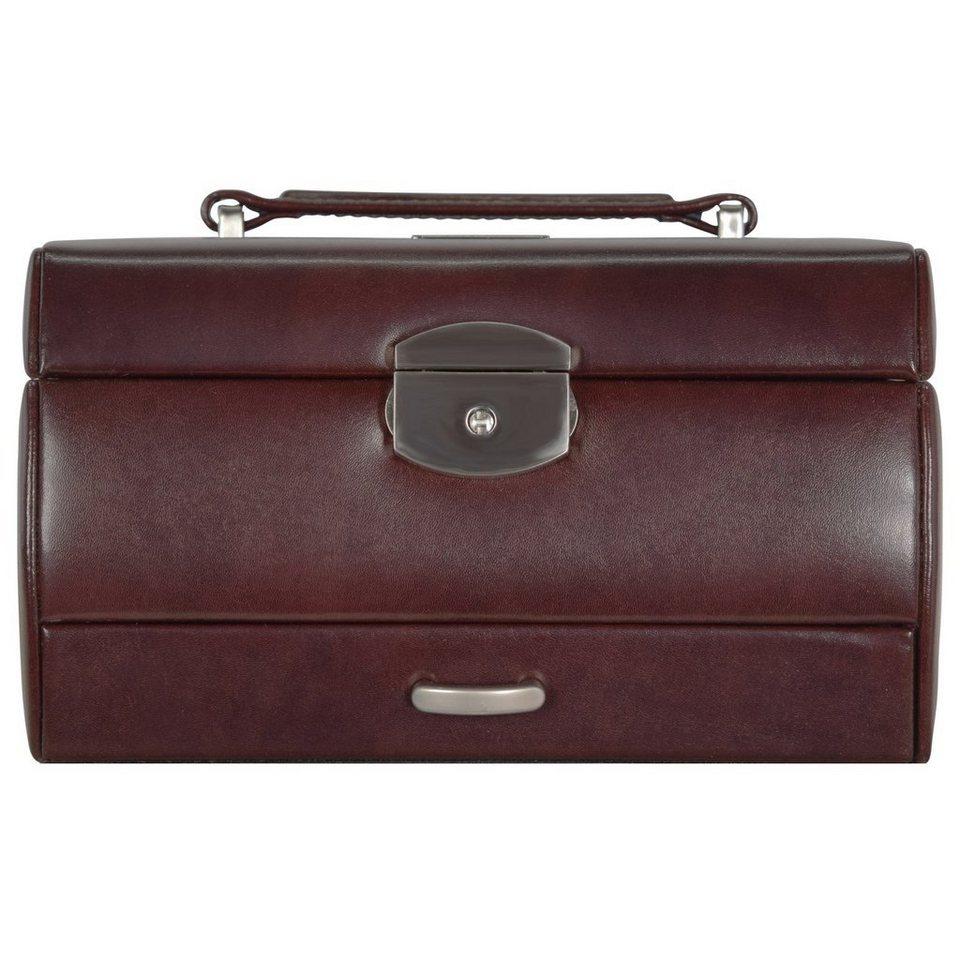 Windrose Classico Uhrenbox 19,5 cm Leder in braun