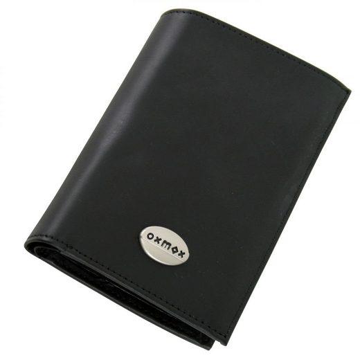 OXMOX Leather Kombi-Geldbörse Leder 9,5 cm