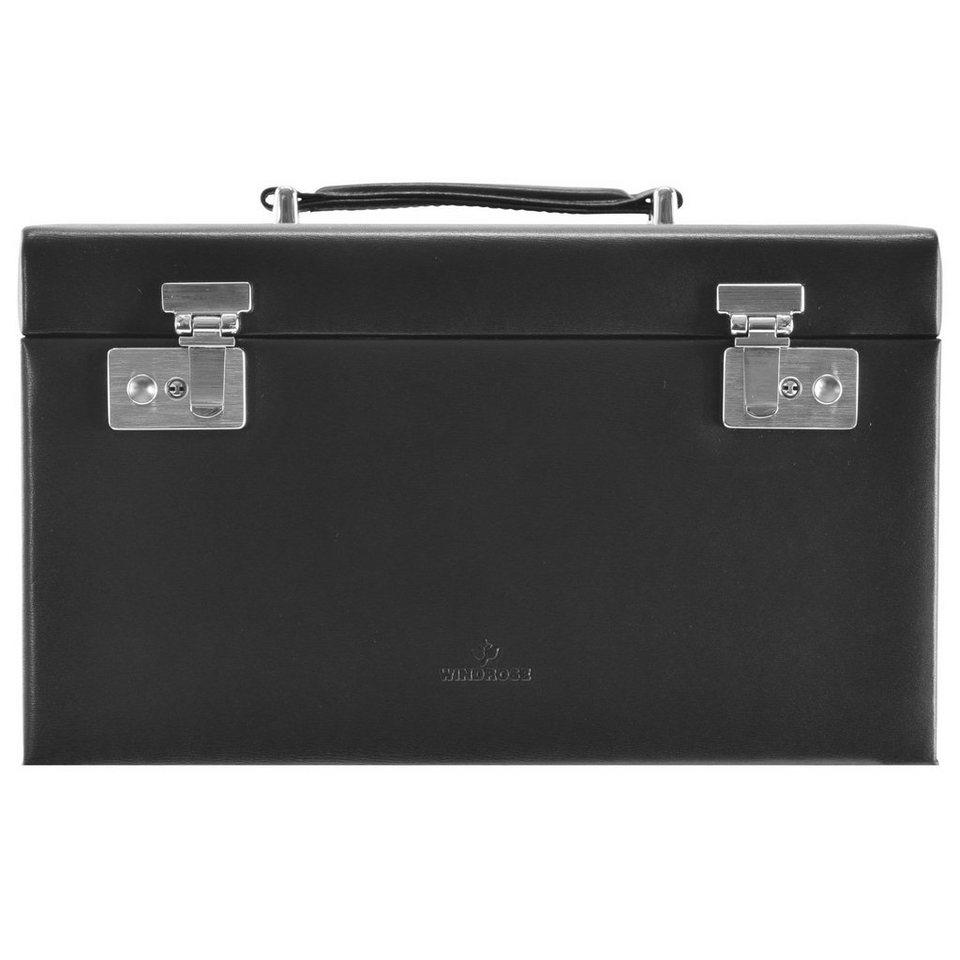 Windrose Windrose Ambiance Schmuckkoffer 31 cm Leder in schwarz