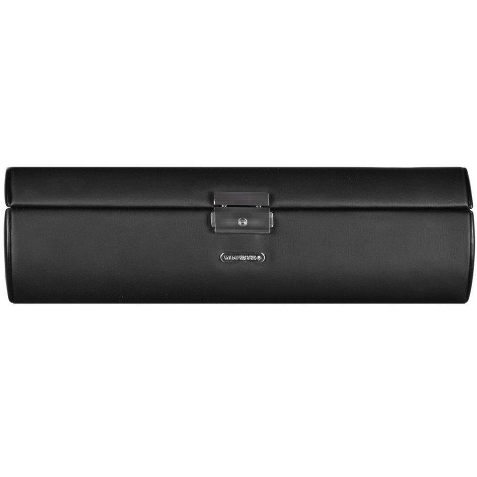 WINDROSE Windrose Vision Uhrenbox 32,5 cm Leder in schwarz
