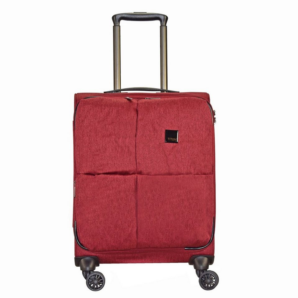 Titan Square 4-Rollen Kabinen Trolley 55 cm in red
