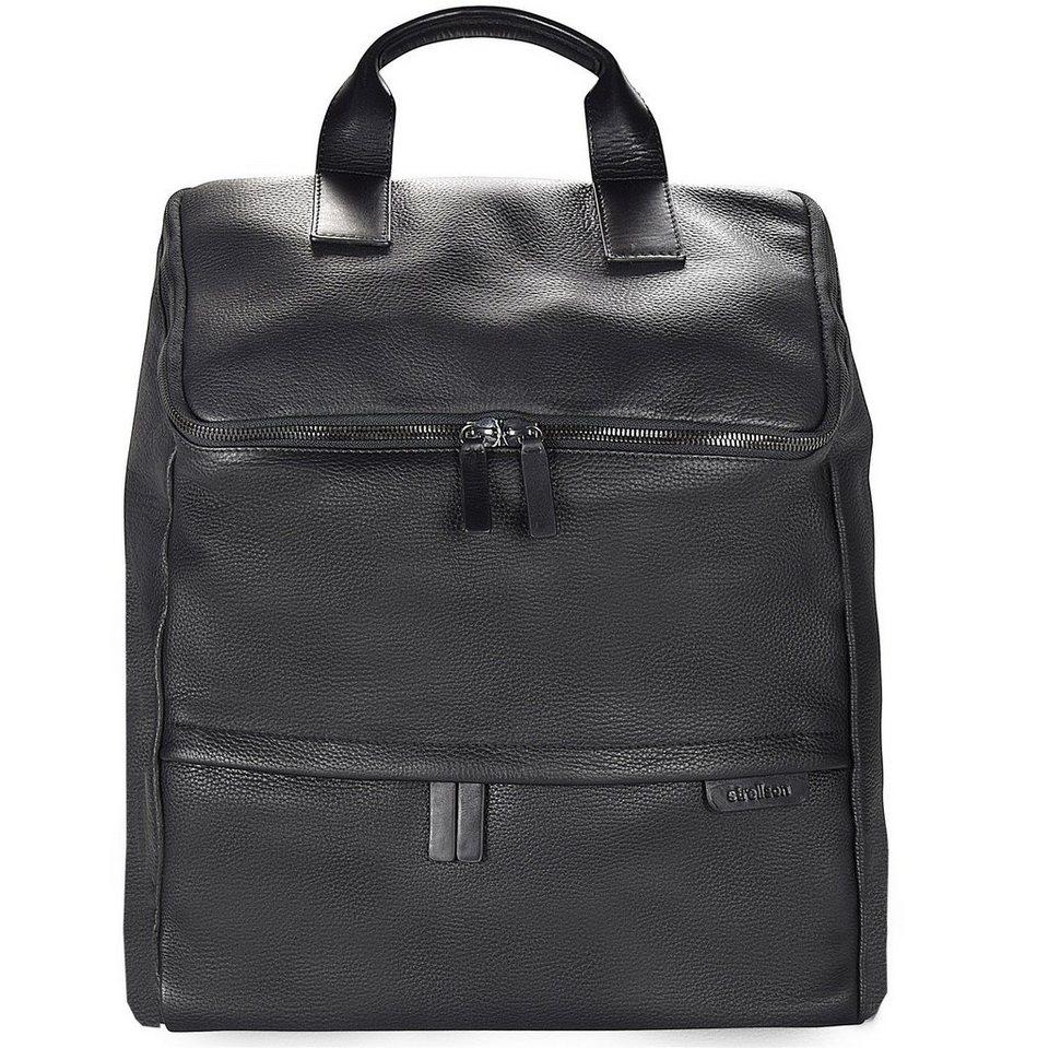 Strellson Garret Rucksack Leder 45 cm Laptopfach in black