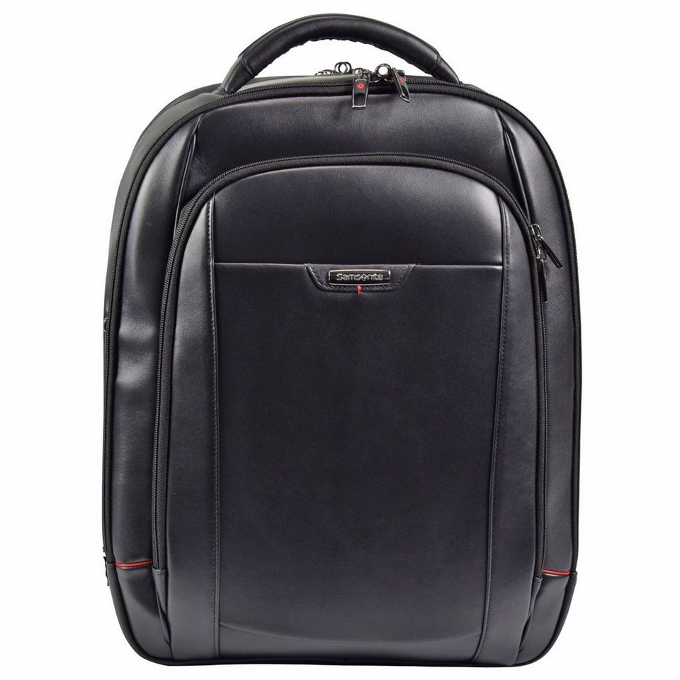 Samsonite Pro-DLX 4 LTH Business Rucksack Leder 50 cm Laptopfach in black