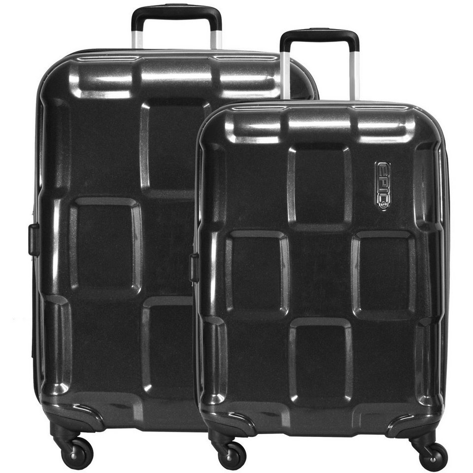 Epic Epic Crate ex 4-Rollen-Trolley Set 2-tlg. in black metal
