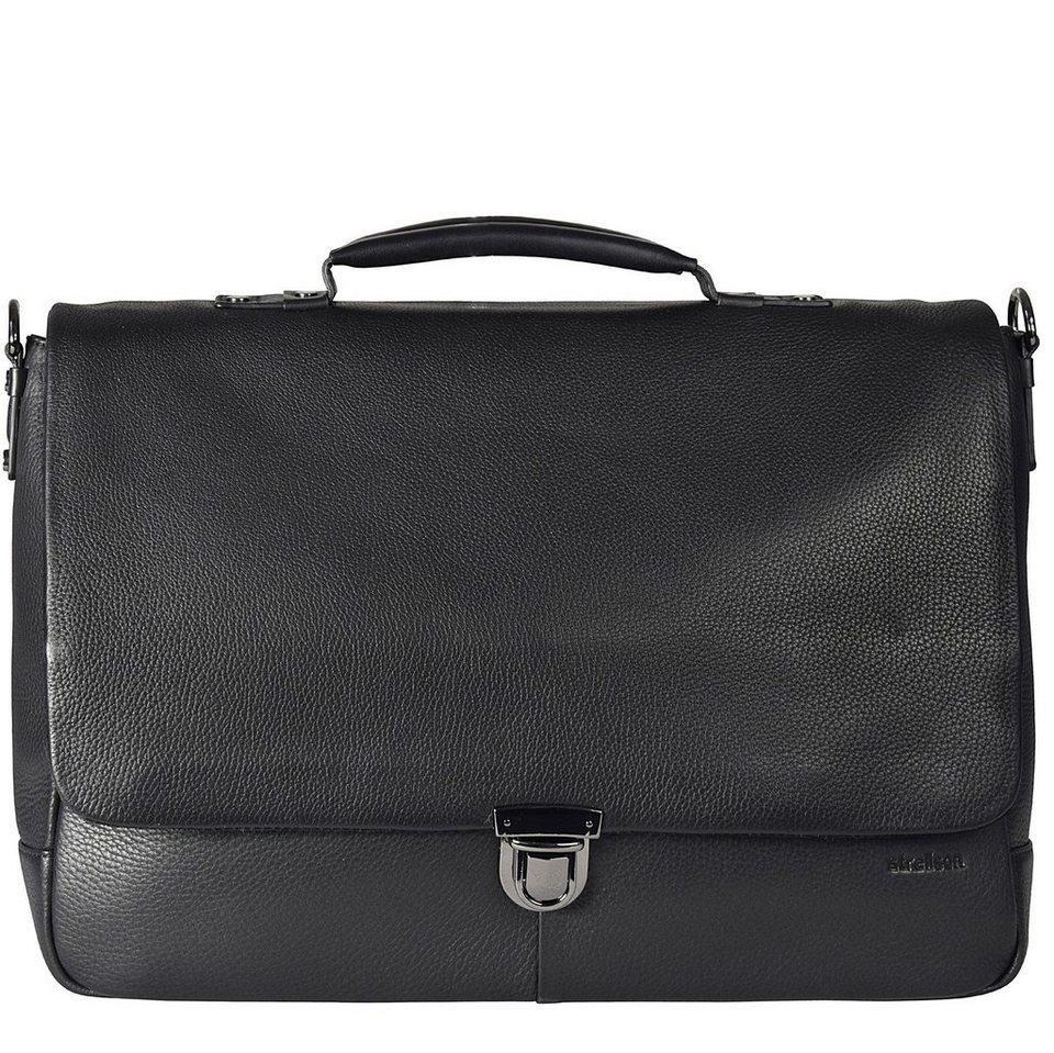 Strellson Strellson Garret Aktentasche Leder 40 cm Laptopfach in black