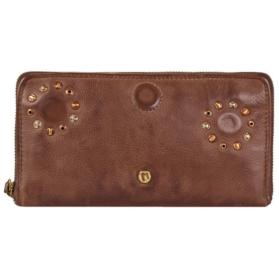 Greenburry Riveted Geldbörse Jessy Leder 21 cm in cognac