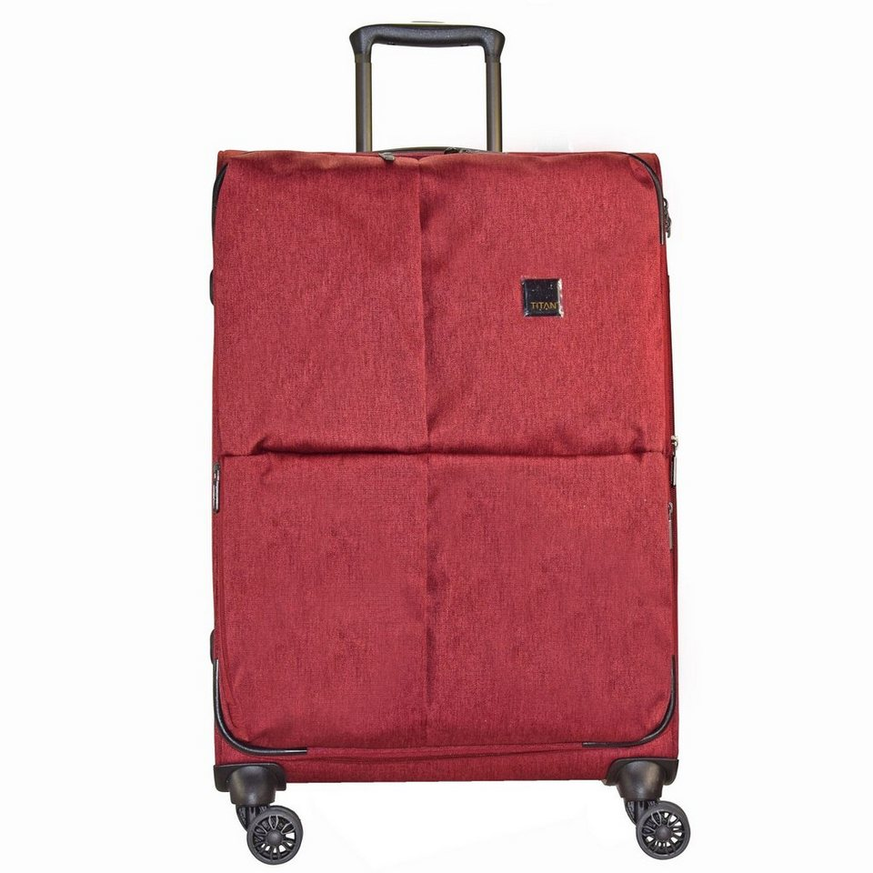Titan Square 4-Rollen Trolley 78 cm in red