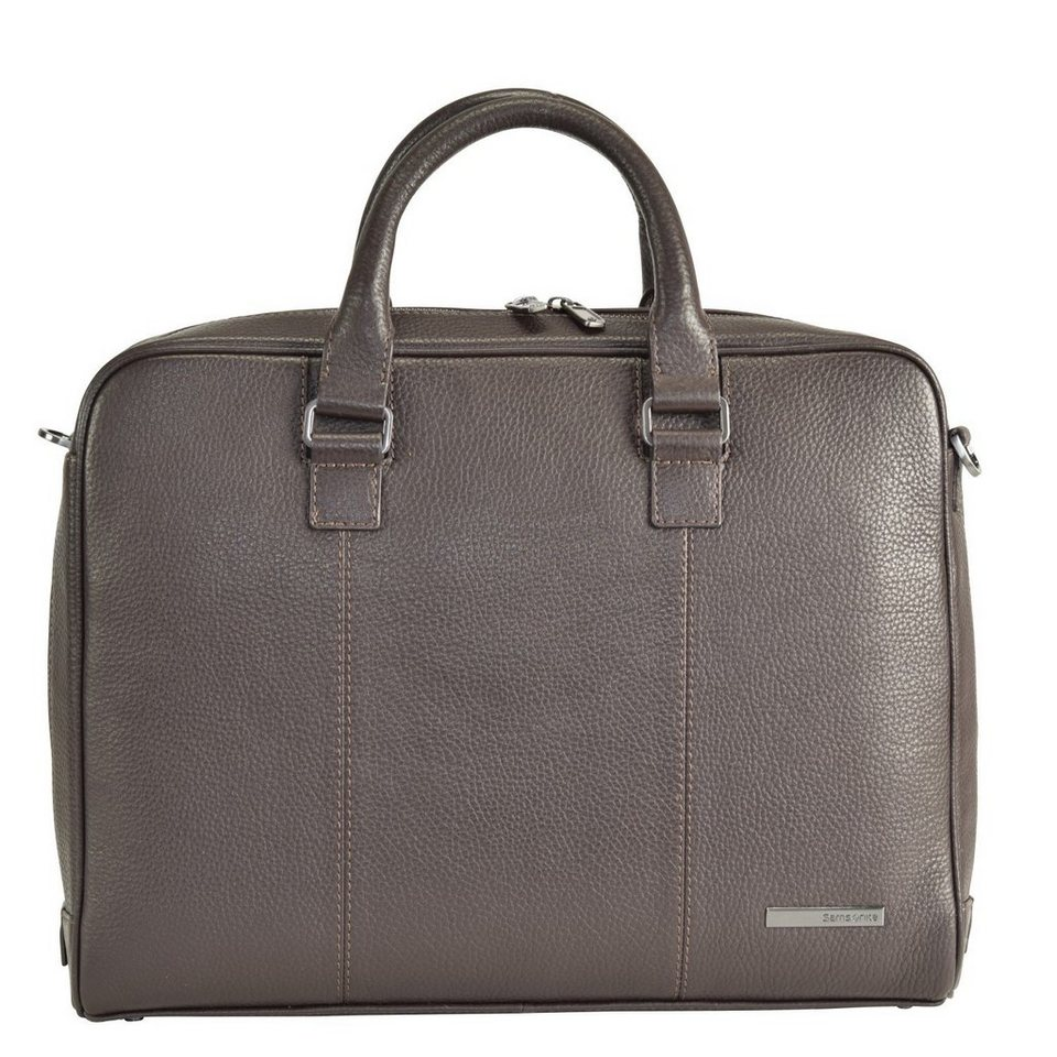 Samsonite Samsonite Equinox Aktentasche Leder 39 cm Laptopfach in dark brown