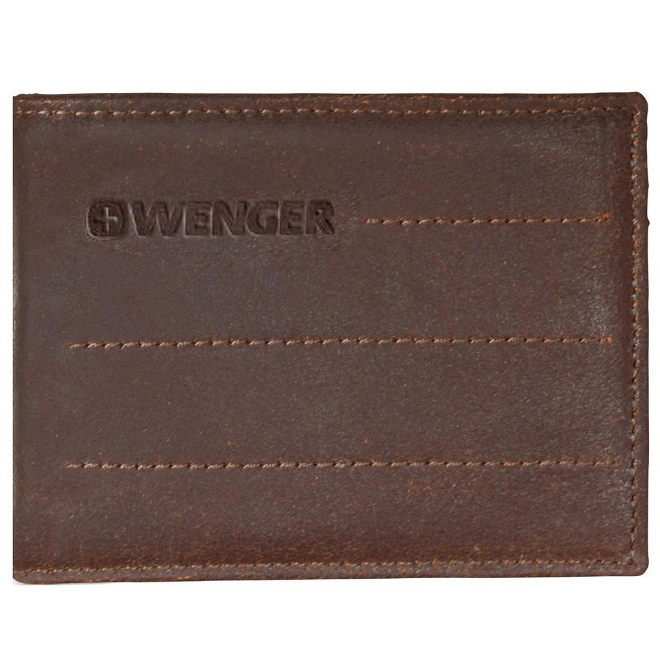 Wenger Wenger Street Hunter Geldbörse Leder 12 cm in brown
