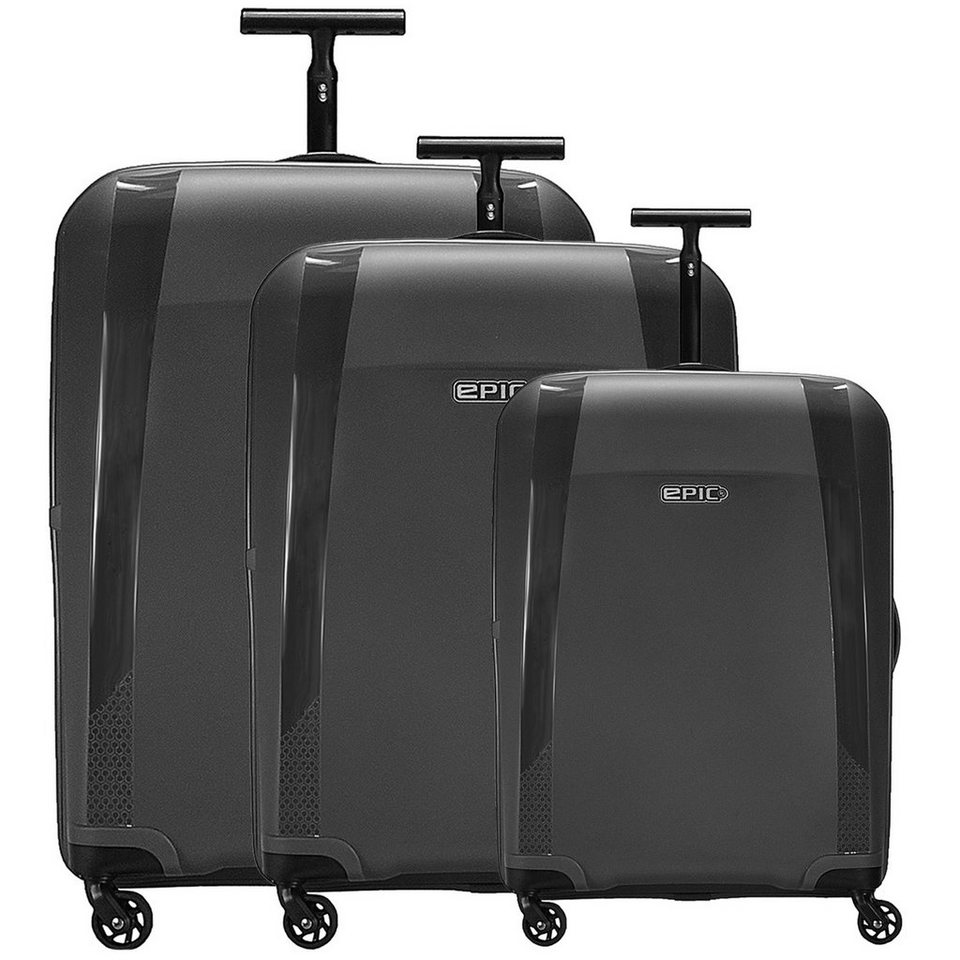EPIC Phantom 4-Rollen-Trolley Set 3-tlg. in black metal
