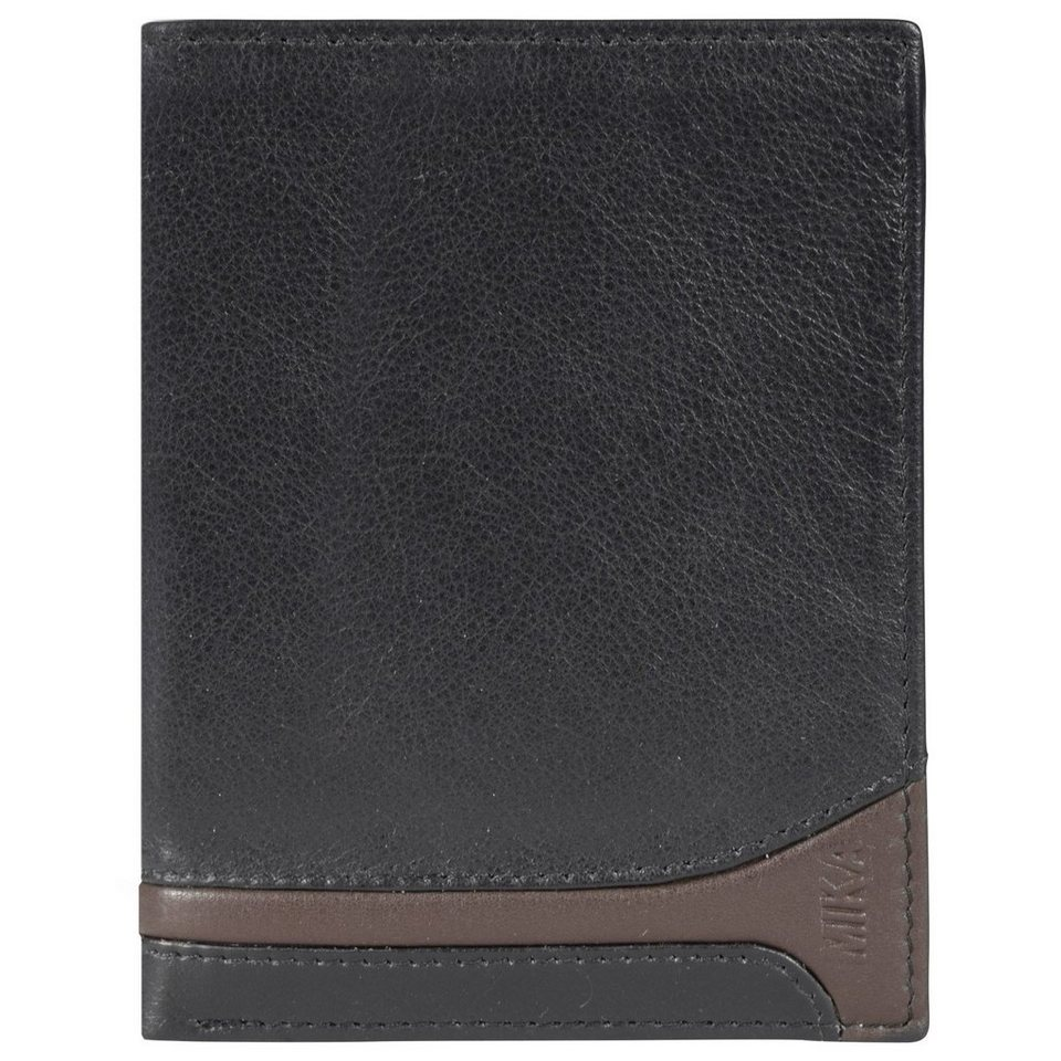 Mika Lederwaren Accessoires Geldbörse Leder 10 cm in black