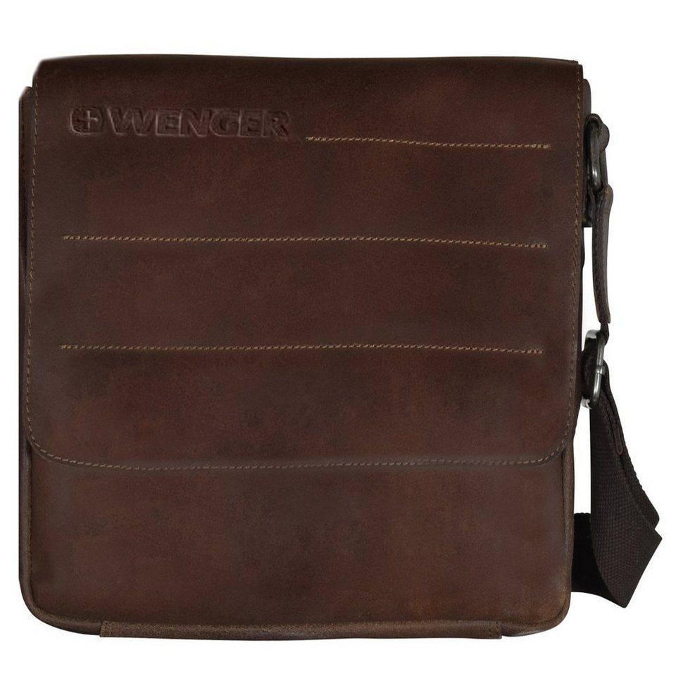 Wenger Wenger Street Hunter Umhängetasche Leder 28 cm Laptopfach in brown