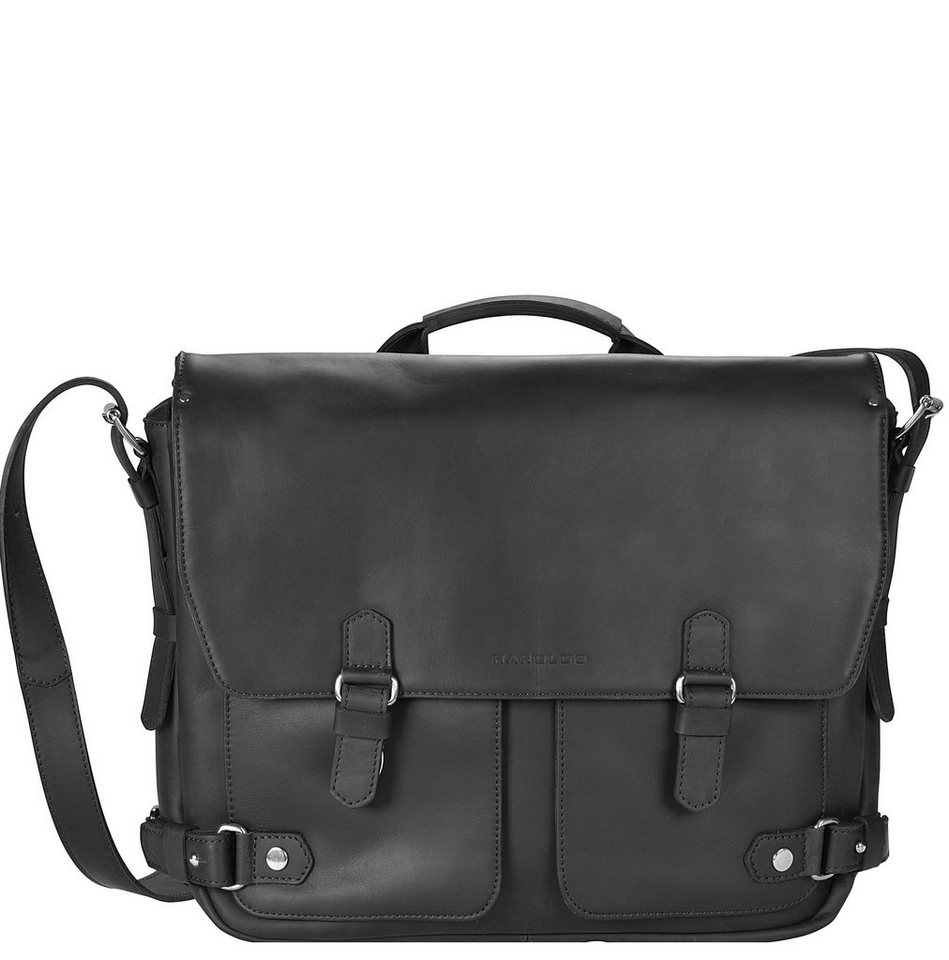 Harold's Ivy Court Aktentasche Leder 38 cm Laptopfach in schwarz