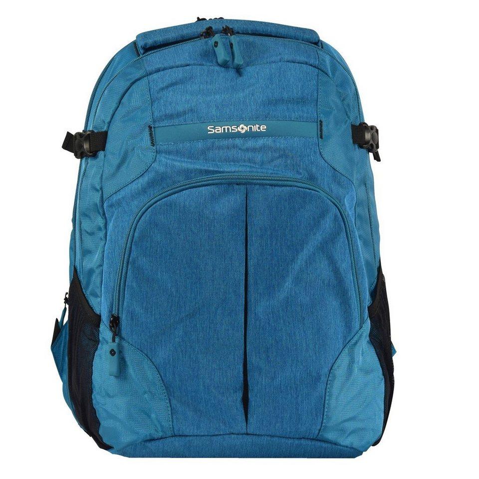 Samsonite Rewind Rucksack 45 cm Laptopfach in turquoise