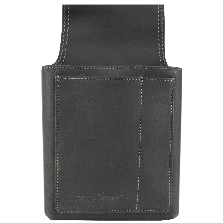 Greenburry Vintage Black Gürteltasche / Kellnerbörse Leder 14,5 cm