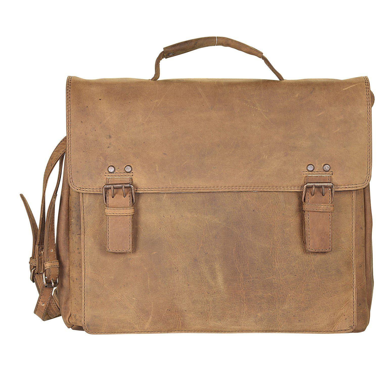Harold's Antik Casual Aktentasche Leder 38 cm Laptoptafach