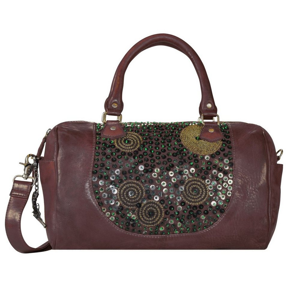 Billy the Kid Billy the Kid Zari Handtasche Leder 36 cm in burgundy