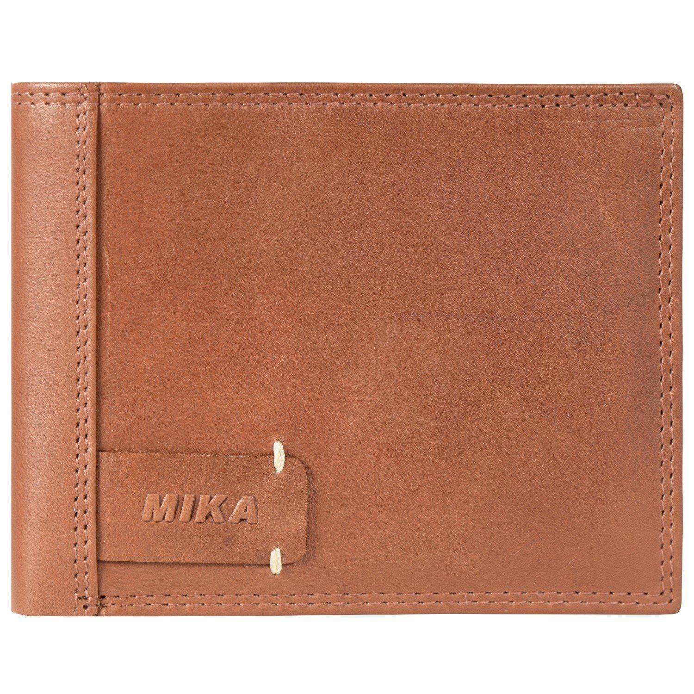 Mika Lederwaren Mika Accessoires Geldbörse Leder 12,5 cm