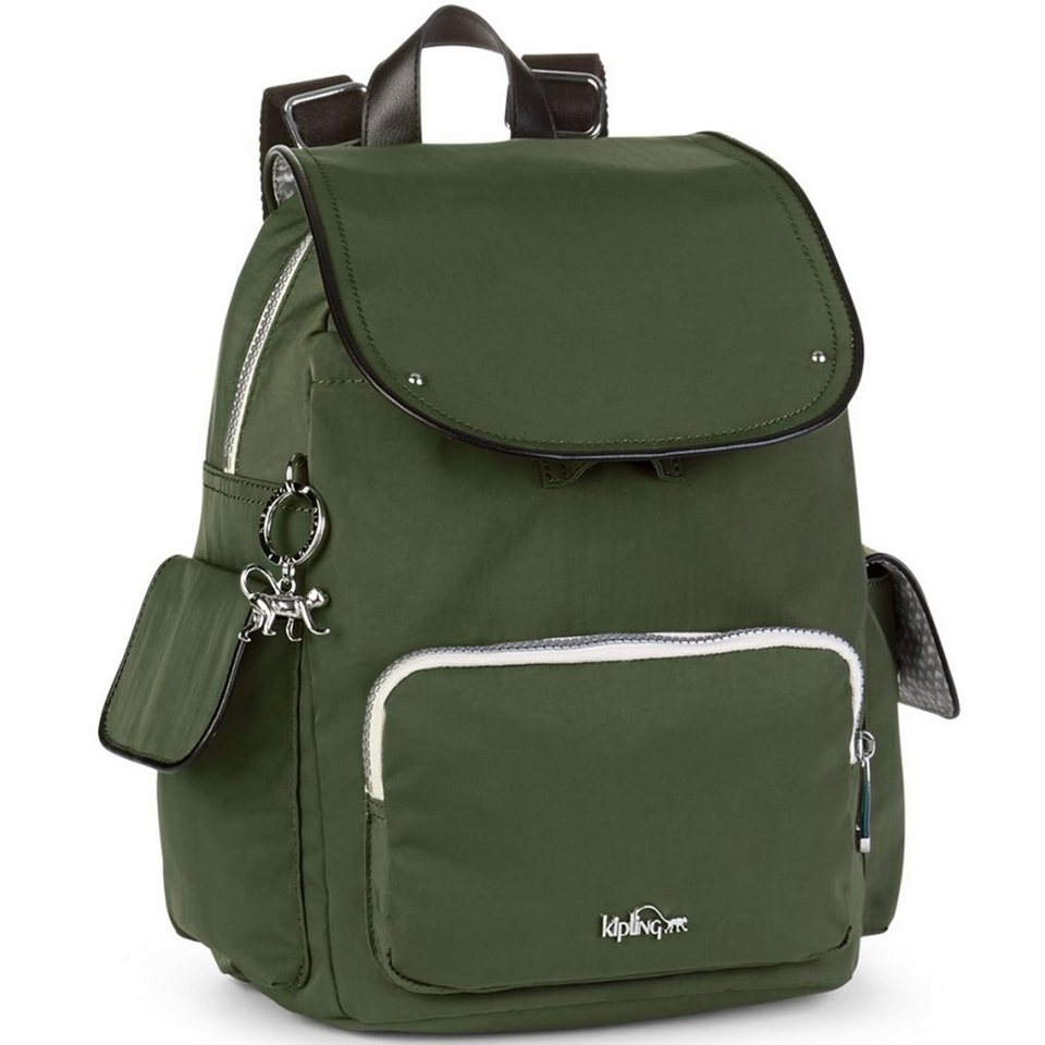 Kipling Kipling Twist City Pack S Rucksack 33,5 cm in cactus khaki
