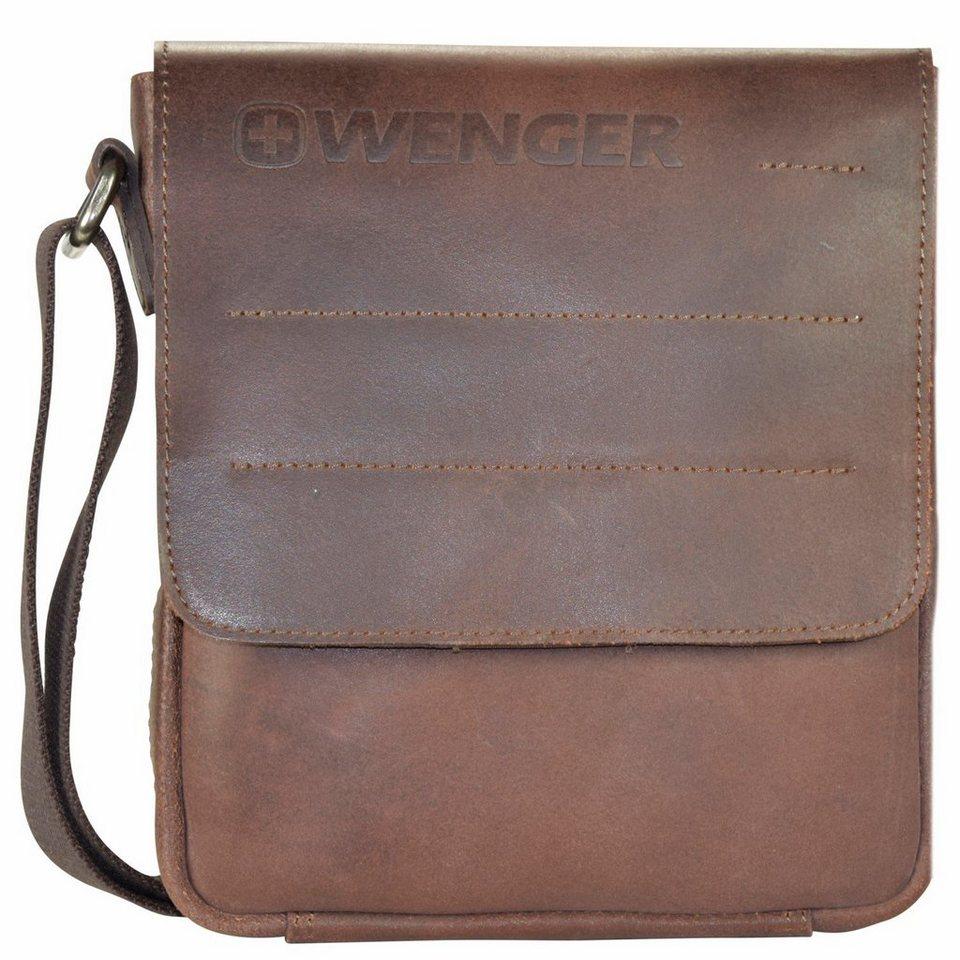 Wenger Street Hunter Umhängetasche Leder 20 cm in brown