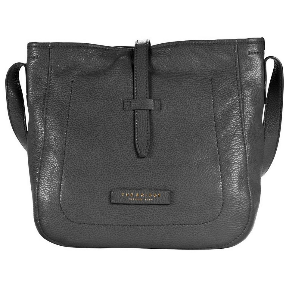 The Bridge Plume Soft Donna Shopper Leder 28 cm in nero-goldfarben