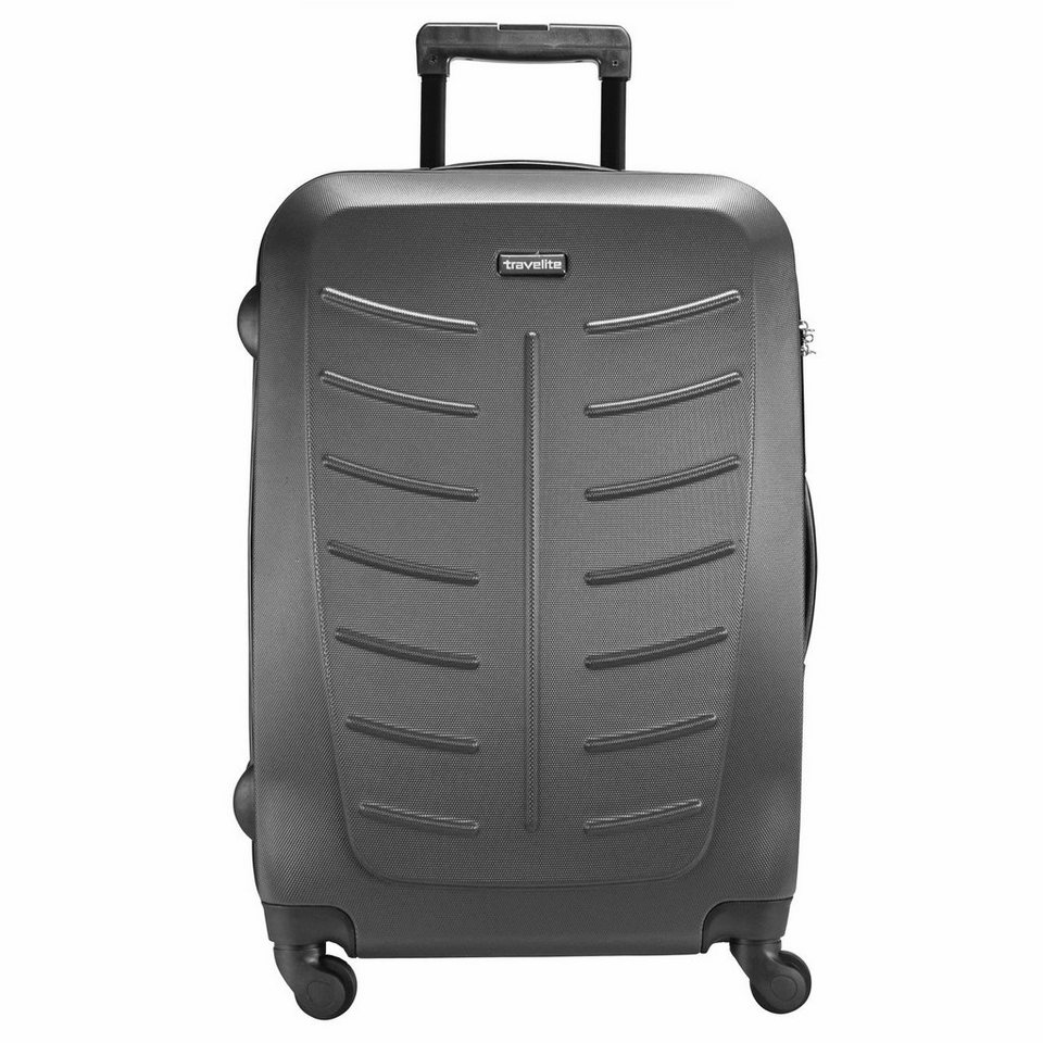travelite Robusto 4-Rollen Trolley 77 cm in anthrazit