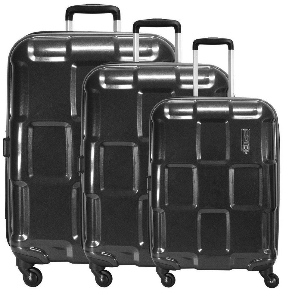 EPIC Crate ex 4-Rollen-Trolley Set 3-tlg. in black metal