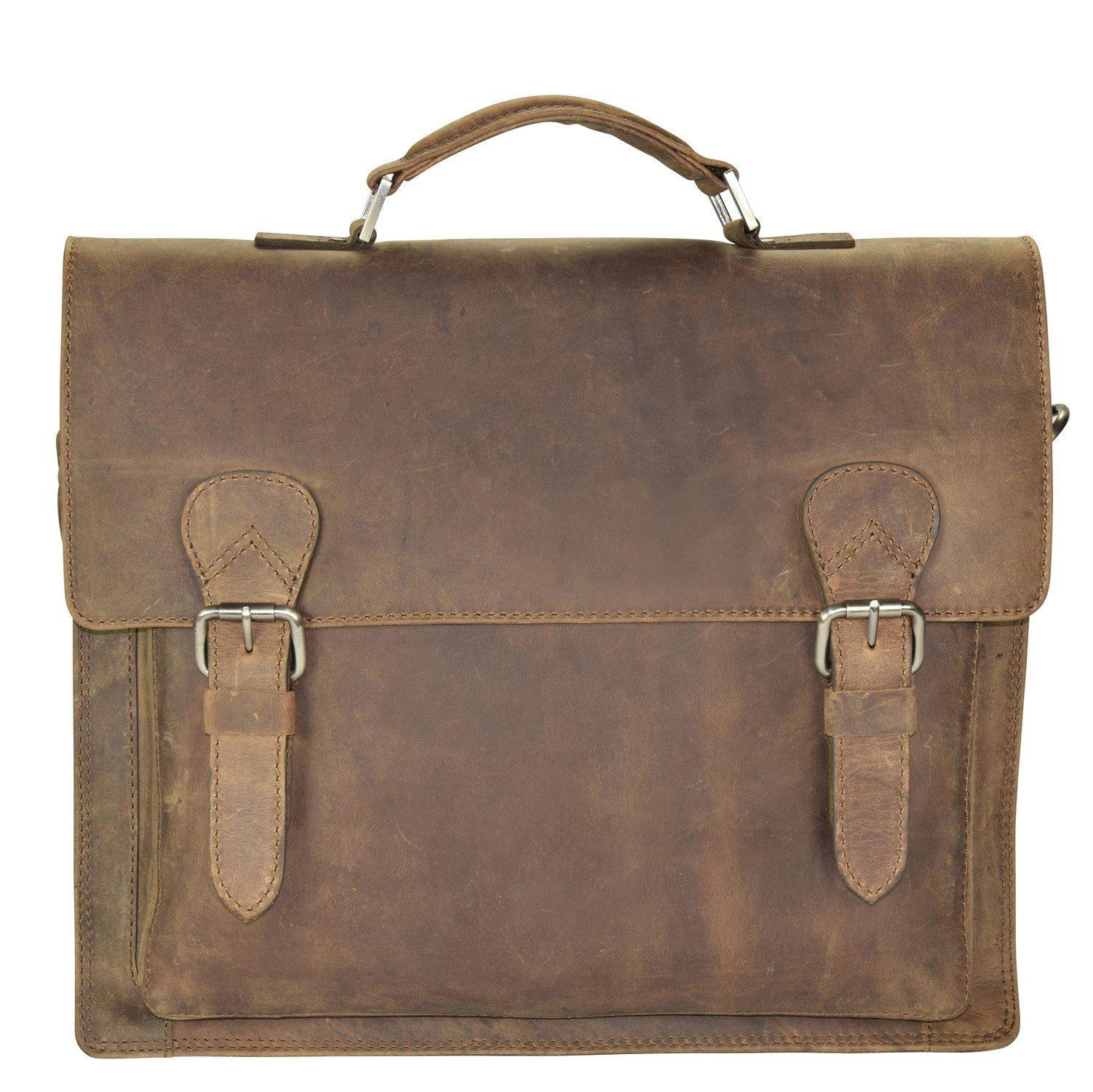 Harold's Antik Casual Aktentasche Leder 40 cm Laptopfach
