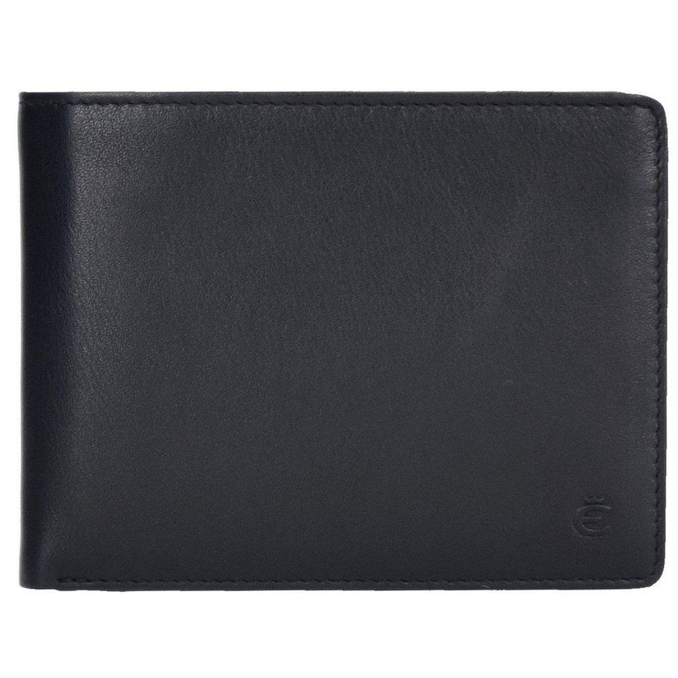 Esquire Esquire Compact Geldbörse Leder 11 cm in schwarz