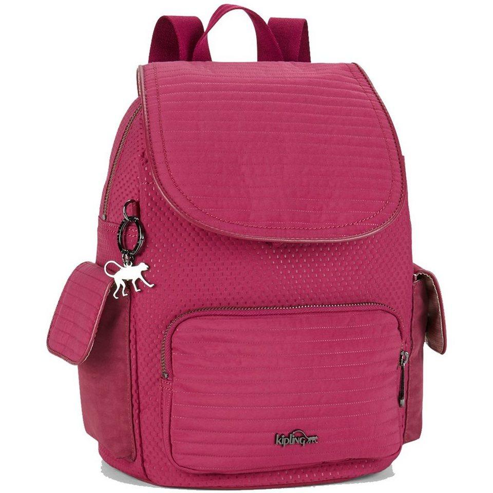 KIPLING Twist City Pack S Rucksack 33,5 cm in craft berry