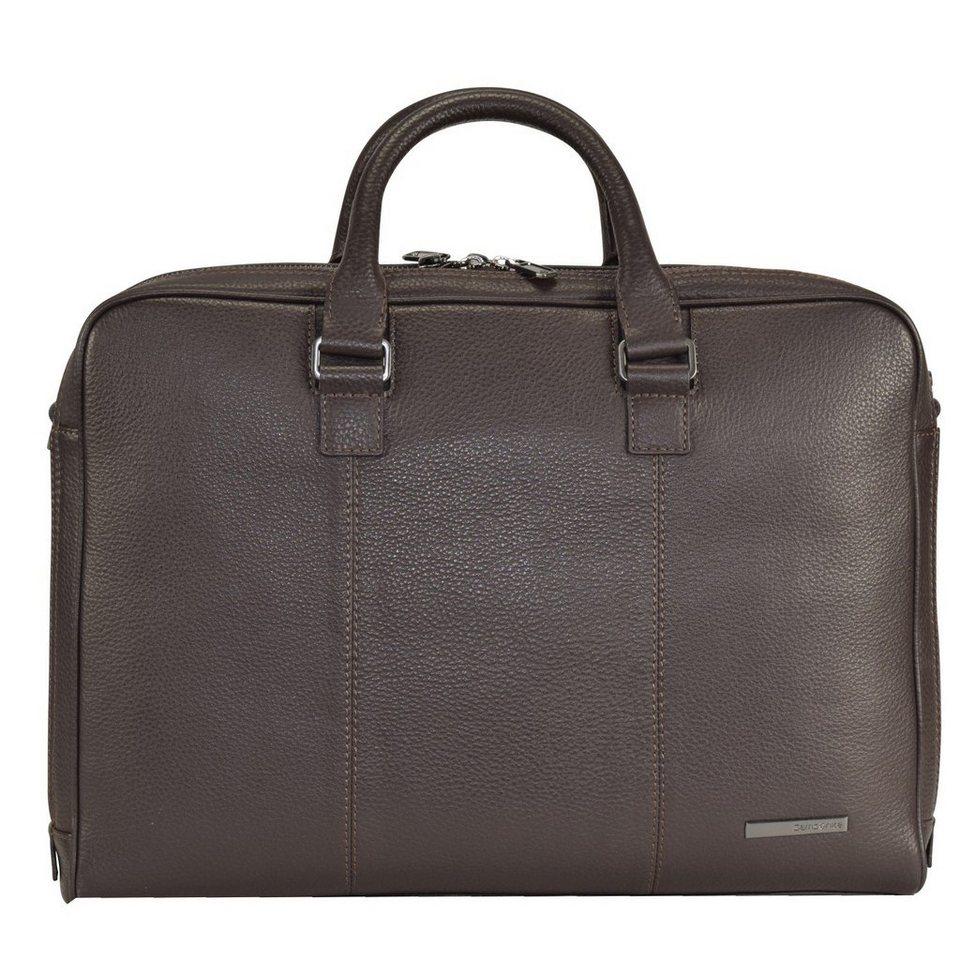 Samsonite Equinox Aktentasche Leder 42 cm Laptopfach in dark brown