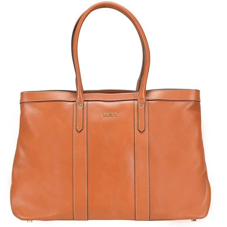Bric's Life Pelle Shopper Tasche Leder 43 cm in leather