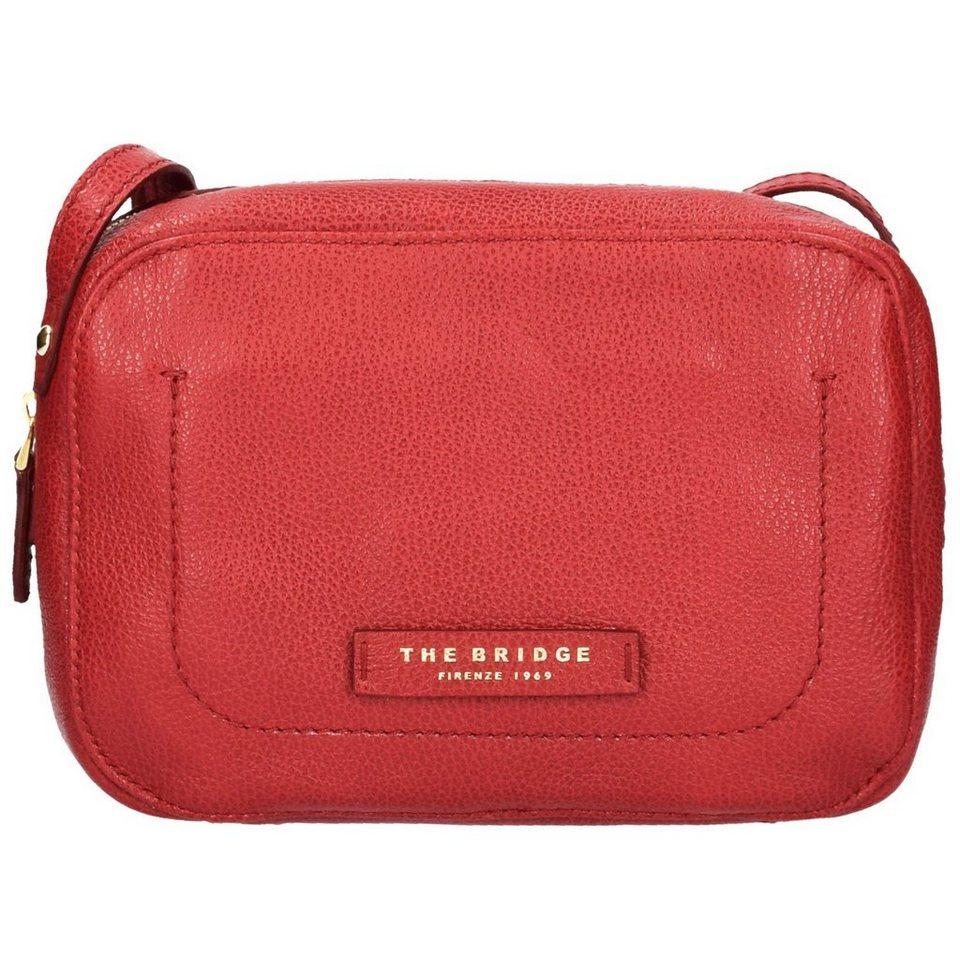The Bridge Plume Soft Donna Umhängetasche Tasche Leder 21 cm in rosso ribes