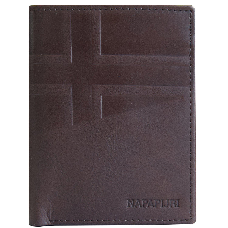 Napapijri Hike Vertical Wallet Geldbörse Leder 9,5 cm