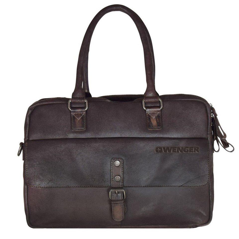 Wenger Foggy Aktentasche Leder 41 cm Laptopfach in brown