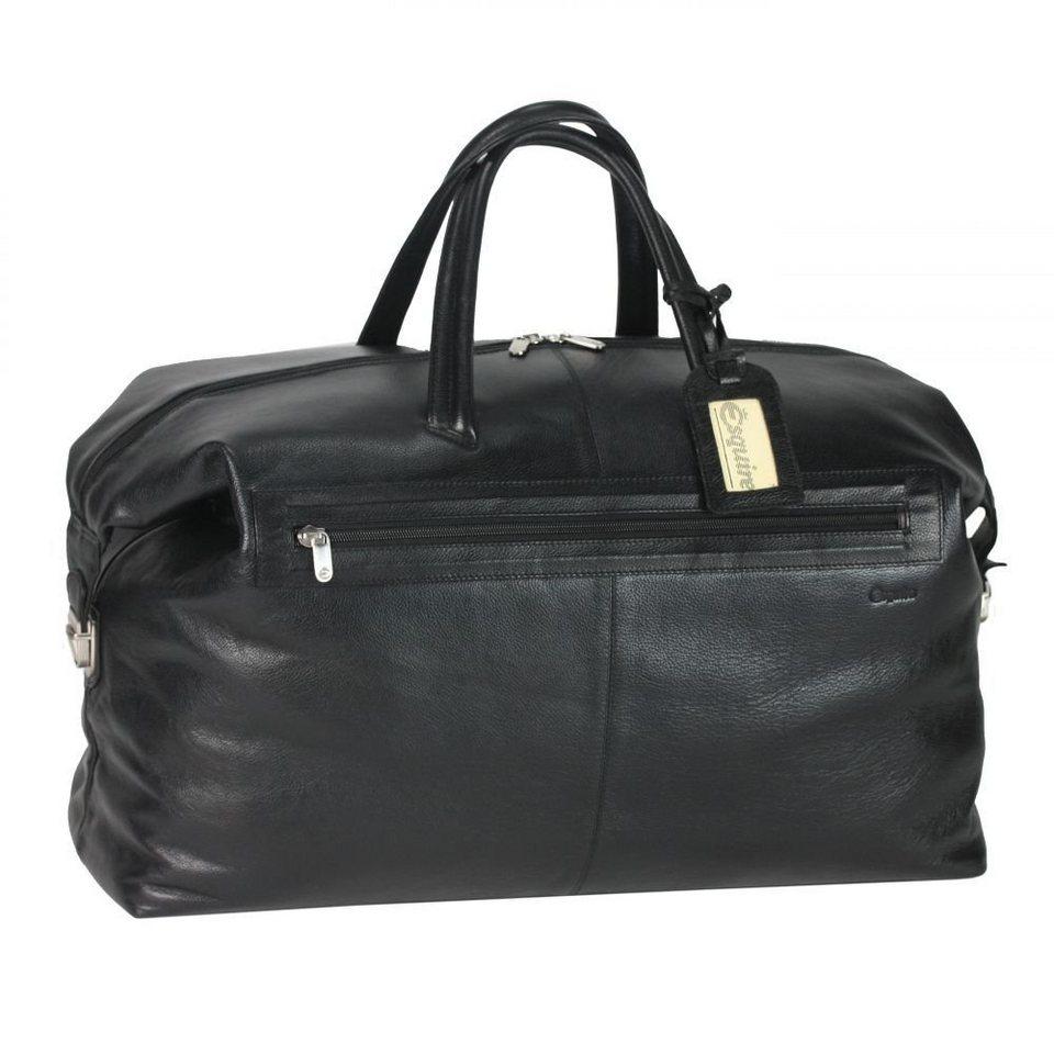 Esquire Courier Sporttasche Leder 61 cm in schwarz