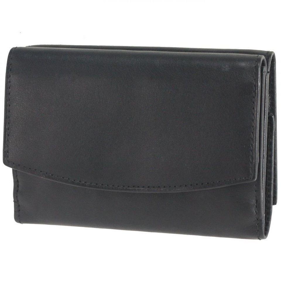 Esquire Esquire Silk Wendebörse Leder 11 cm in black