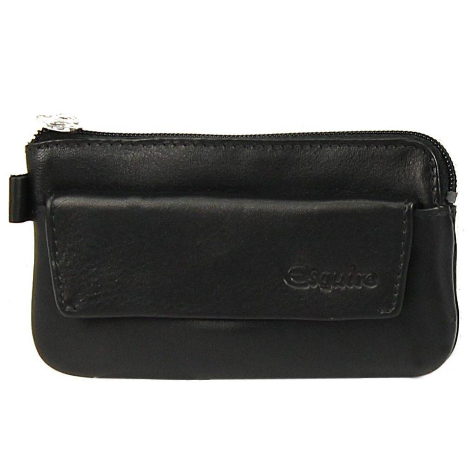 Esquire Esquire Silk Schlüsseletui Leder 11,5 cm in black