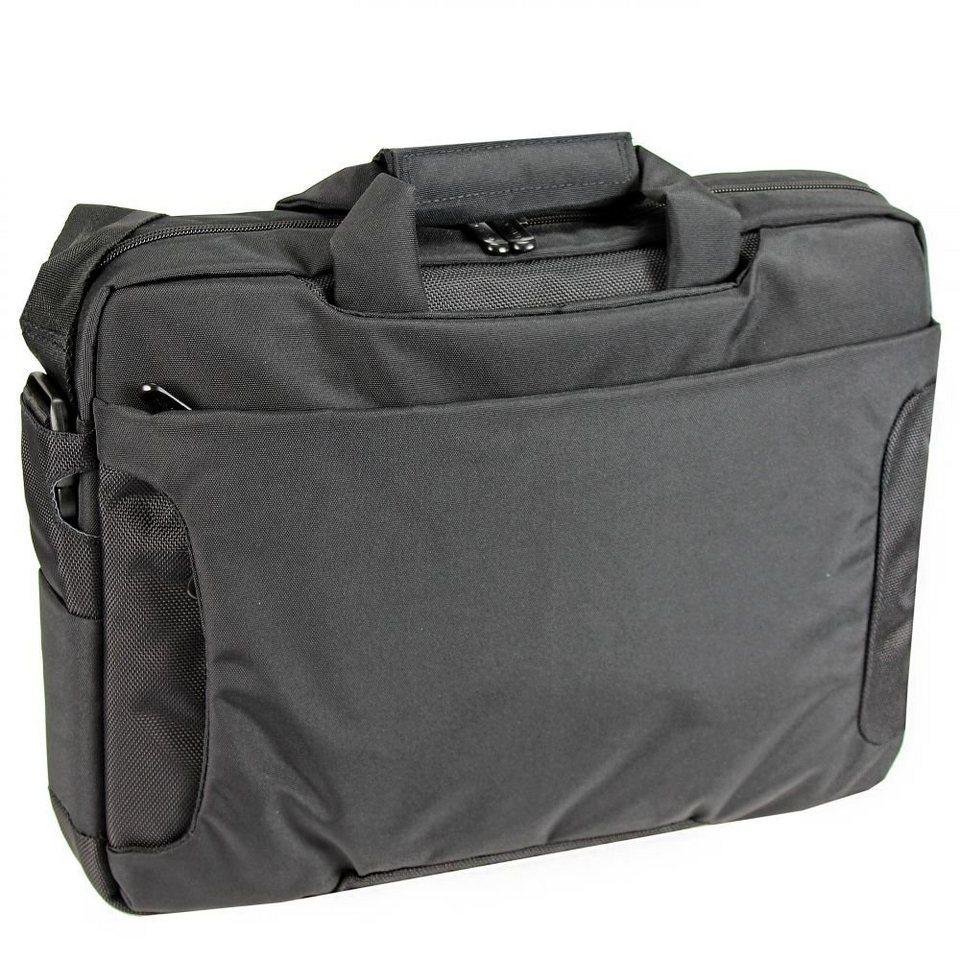 Dermata Laptoptasche 40 cm in schwarz