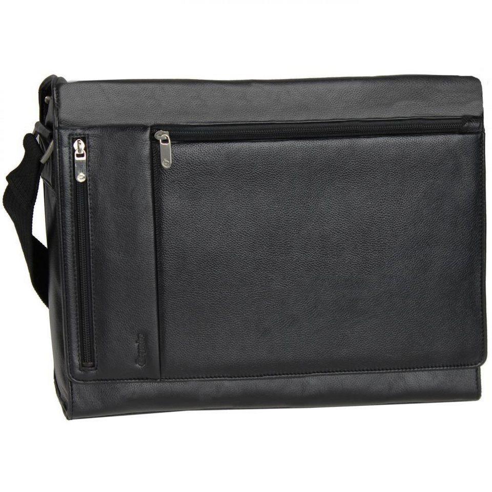 Esquire Esquire Courier Laptoptasche Leder 39 cm in black